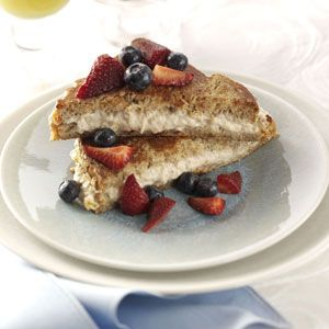 Stuffed French Toast - Sautéed bananas mixed with cream cheese and ...
