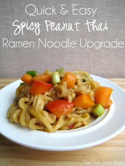 Spicy Peanut Thai Ramen Noodle Upgrade - The First Year Blog # ...