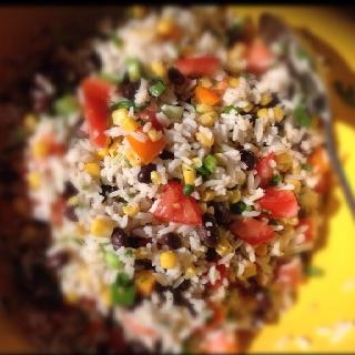 Yummy health food. Fiesta lime rice from skinnytaste.com prepared by ...