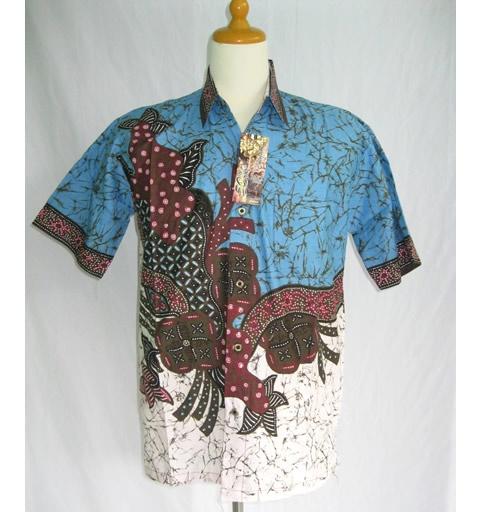 Baju Batik Pria Modern Biru Modern Batik Sekar Pinterest