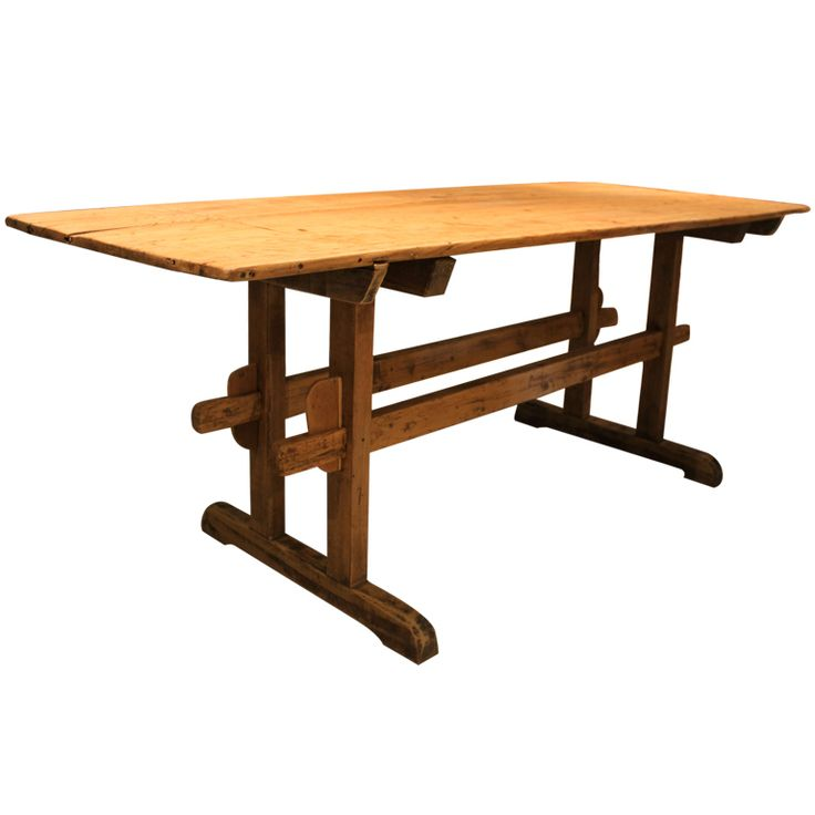Farmhouse Trestle Table Trestle Tables Pinterest