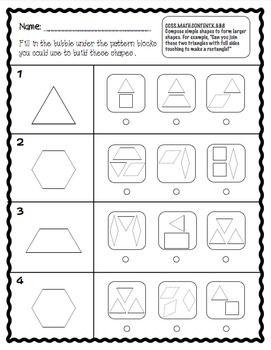 GET IN SHAPE FOR COMMON CORE: 2D AND 3D SHAPES - TeachersPayTeachers.com