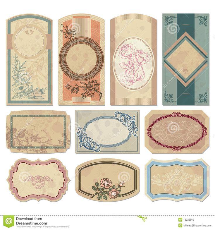 Vintage labels   scrapbook ideas   Pinterest