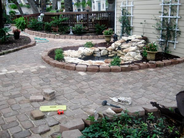 Backyard pond diy gardening pinterest for Building a yard pond