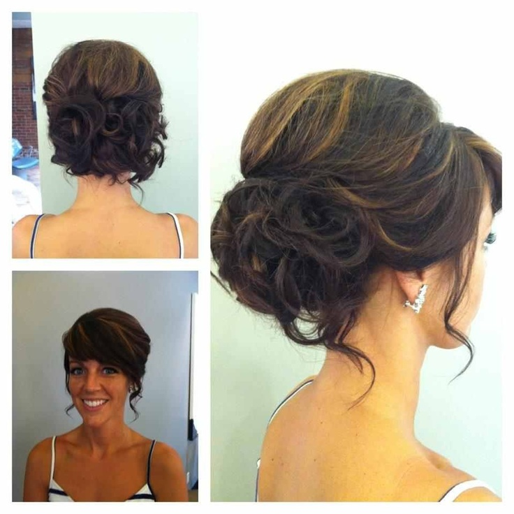 Bridal hairstyles side swept updo