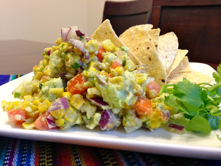 "Roasted Corn Guacamole | ""mexican"" food 