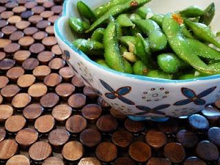 Sweet Chili & Garlic Edamame.....had this at a restaurant in Phoenix ...