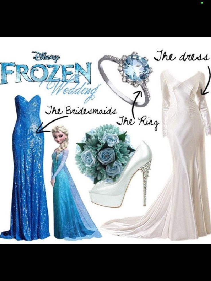 Frozen Themed Wedding Dress