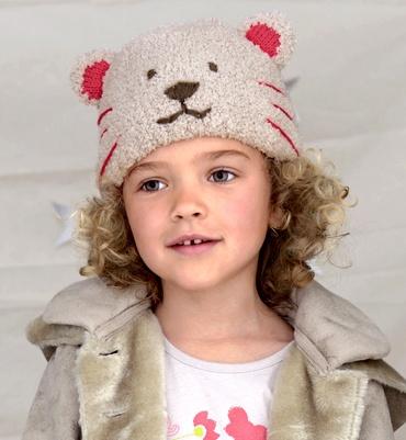 Modèle bonnet rond ours - Modèles tricot accessoires - Phildar