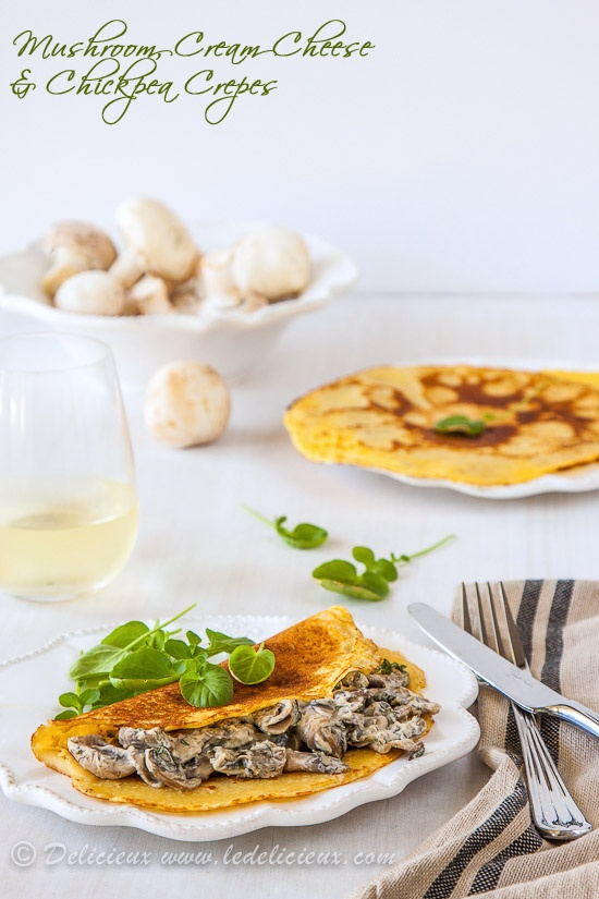 Delicieux » Mushroom crepes - chickpea crepes filled with a creamy ...