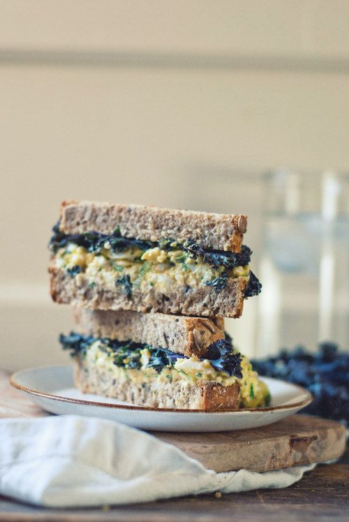 egg salad with tarragon and pickled celery {the gouda life}
