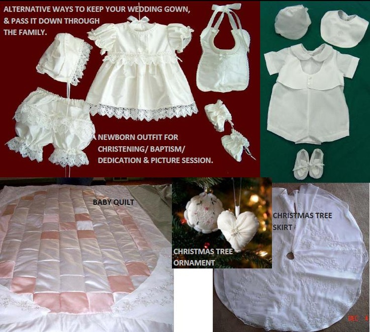 Turn your wedding gown into a baby s outfit or blanket christmas tree