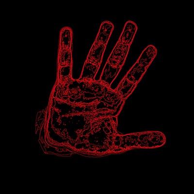 My right hand red art print my designs pinterest