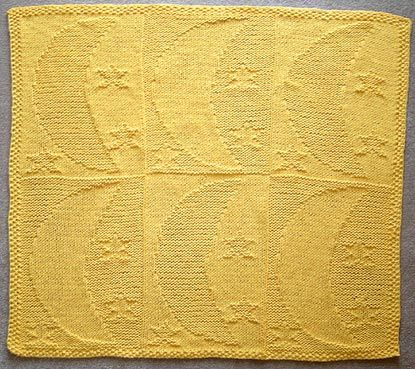 Moon And Stars Baby Blanket Knitting Pattern. It might be time to