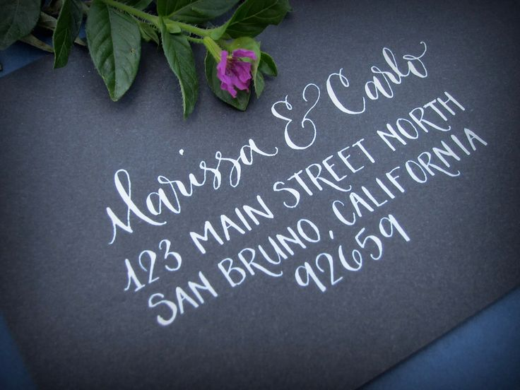 Hand Calligraphy Envelope Addressing Style Main Street