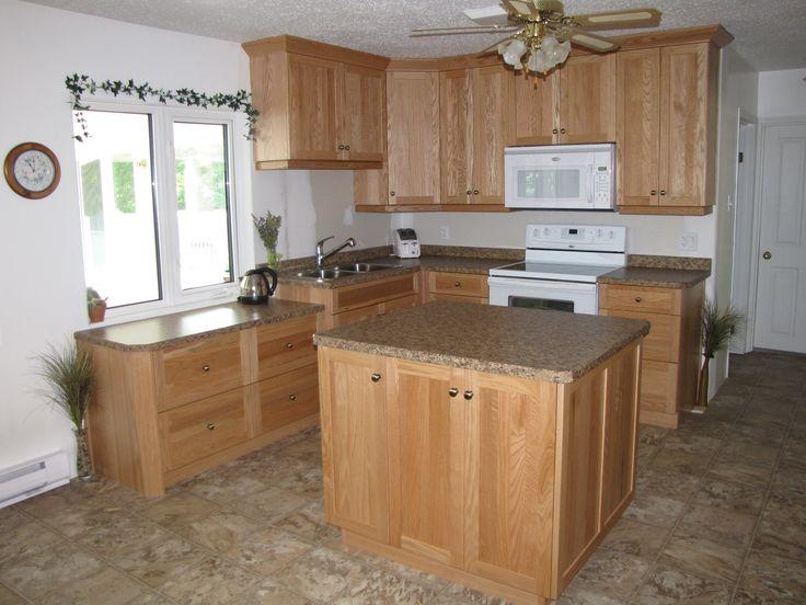 Cabinets Oak Natural Countertop Wilsonart Laminate