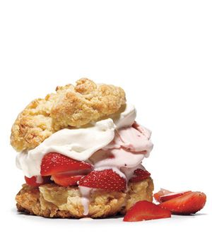 Real Simple Strawberry Shortcake with strawberry ice cream - http ...