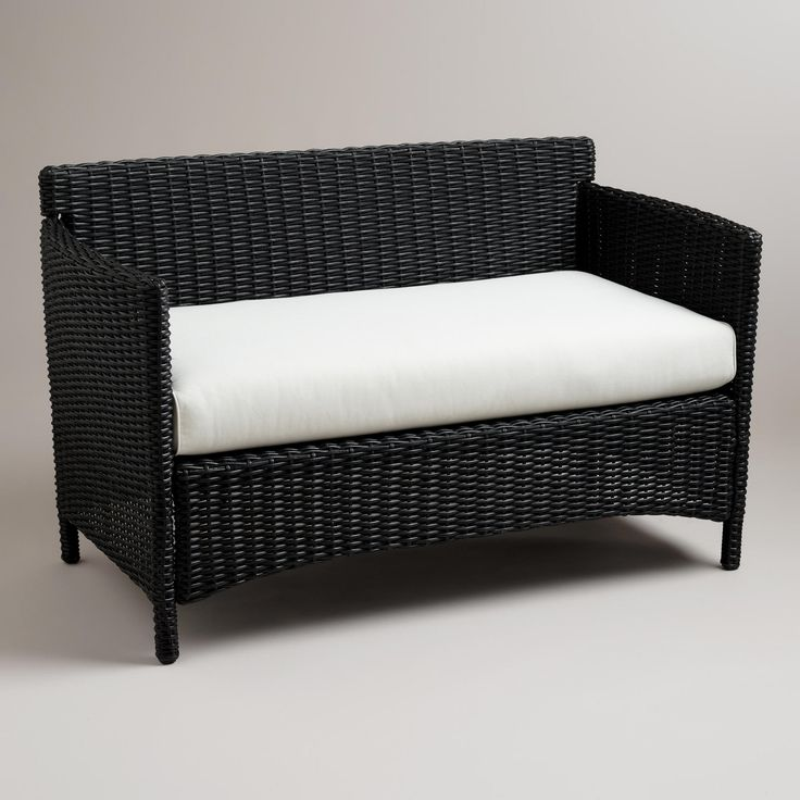 Dillon All Weather Wicker Loveseat With Cushion