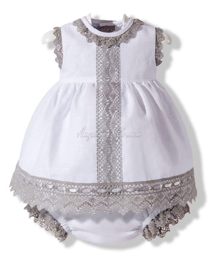 vestido de lino blanco y gris vestidos espanoles 2. Black Bedroom Furniture Sets. Home Design Ideas
