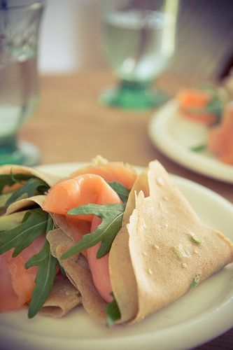 Buckwheat Pancakes With Smoked Salmon Recipe — Dishmaps