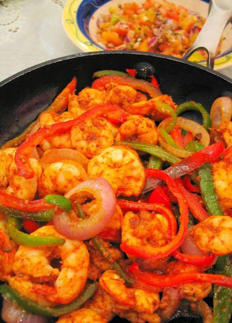 Shrimp Fajitas | Mexican Recipes | Pinterest