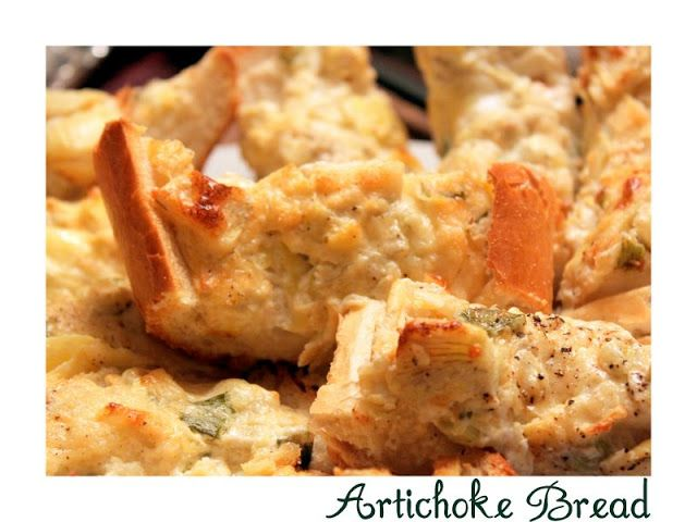 Baked Artichoke Bread - The Cottage Mama | Recipes - Baking | Pintere ...