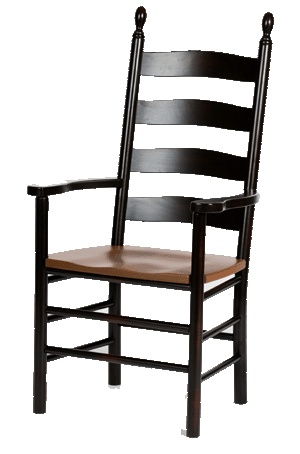 Ladder Back Chairs Painted Black Dining Rooms Pinterest