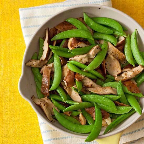Shroom & Snap Pea Saute | Recipe