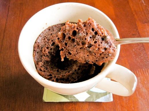 microwave chocolate cake in a mug | Dessert Table | Pinterest