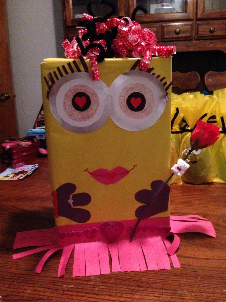 valentines day box minion