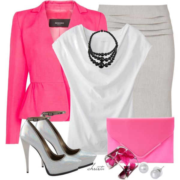 """Neon Blazer"" by christa72 on Polyvore"