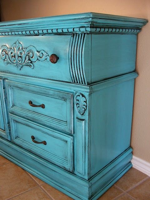 Turquoise/Black Glaze- more great finishing ideas