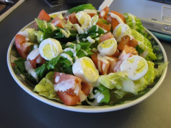 Quail eggs salad | Recipes : Wild Game/ wild foods recipes | Pinterest