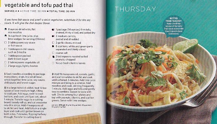 Vegetable and Tofu Pad Thai #Vegetarian #GlutenFree