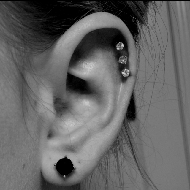 Triple cartilage piercing | My obsession with piercings ...