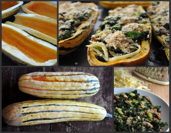 Kale and Sausage Stuffed Squash (what I changed): -Used chicken ...