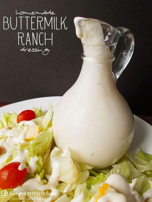 Homemade Buttermilk Ranch Dressing | YUM!! | Pinterest