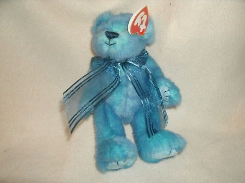 Beanie Baby Quot Azure Quot Blue Teddy Bear The Attic