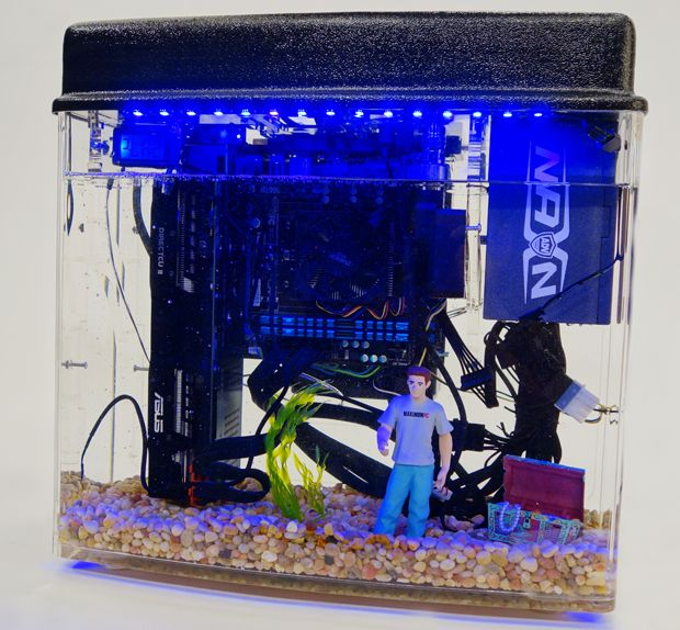 How to build a fish tank pc digital drive pinterest for Fish tank water cooler