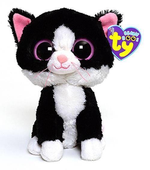 Beanie Boo Purple And White Cat