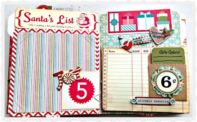 Here is a peek at one of the pages in my 2013 Dec daily mini album.