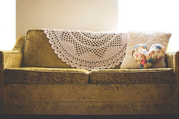 Giant doily throw blanket
