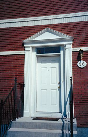 exterior exterior door with pediment and pilasters pilasters