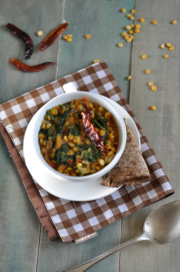 Anja's Food 4 Thought: Indian Spiced Lentils with Spinach (Dal Palak)