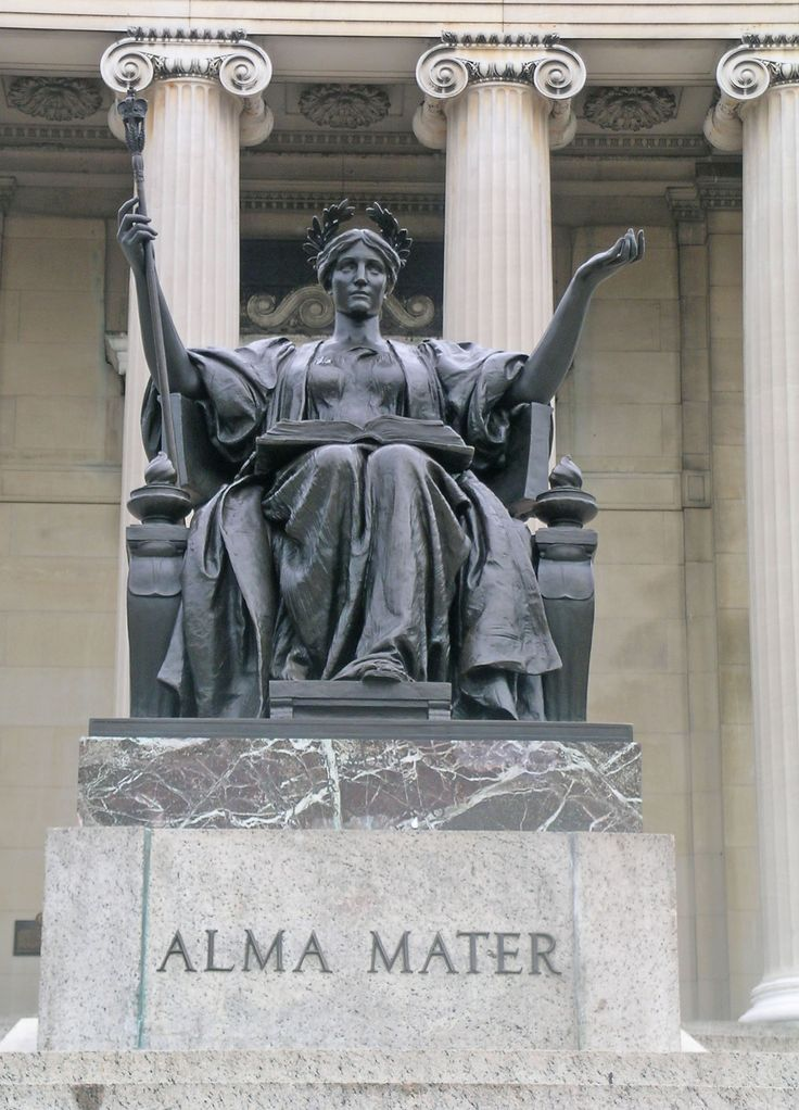 Columbia university alma mater statue university misc for Alma terrace york