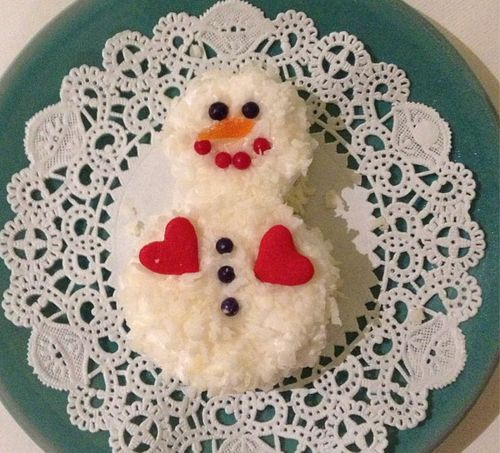 Coconut Snowman: adorable and cheap decoration for holiday cakes I ...