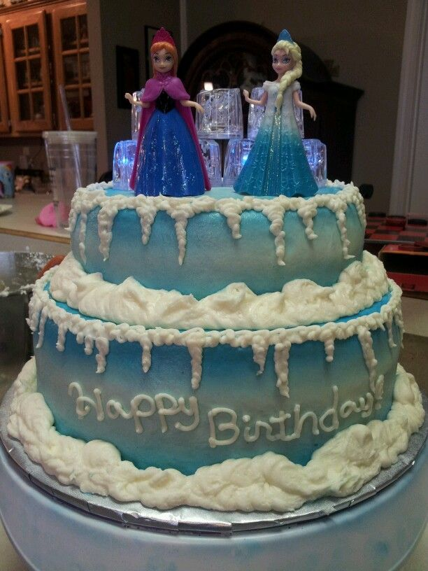 Elsa And Anna Cake Decoration : Frozen Cake - Anna and Elsa Pipa s Frozen Birthday Party ...