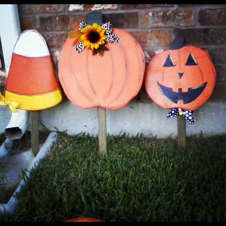 halloween fall yard crafts halloween pinterest