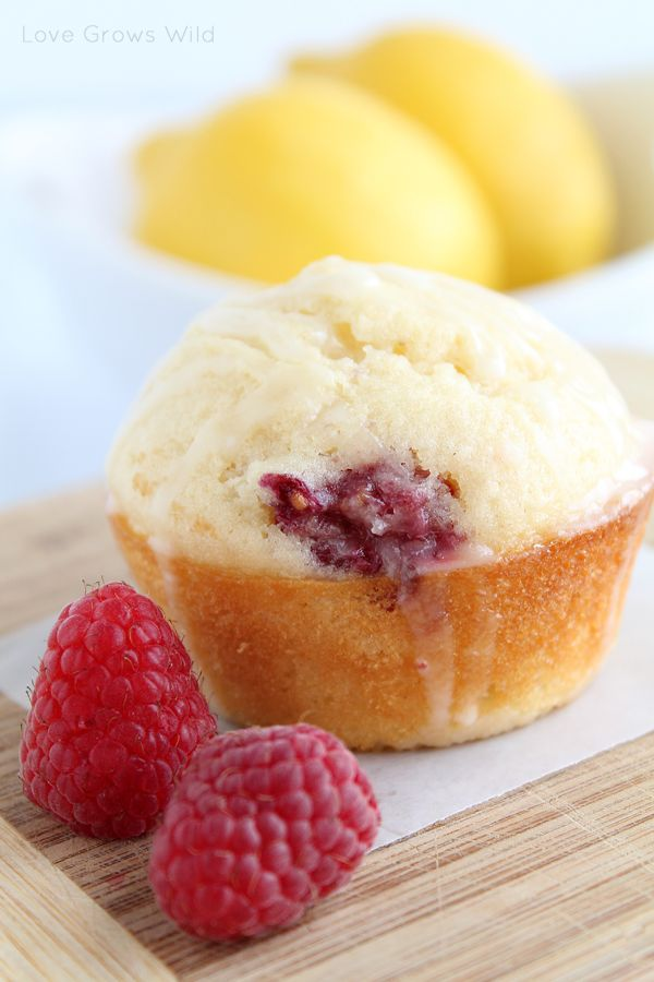 Lemon Raspberry Muffins by Love Grows Wild, texture by buttermilk! www ...