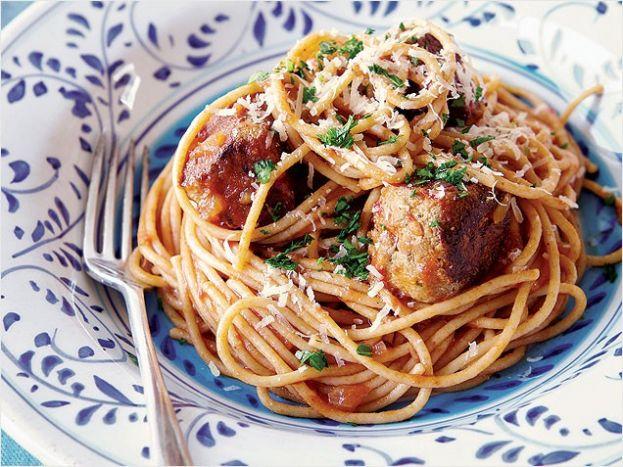 Turkey Meatballs and Spaghetti | Savory | Pinterest
